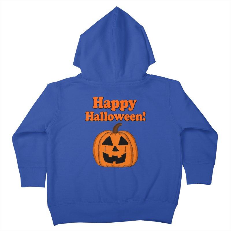 Happy Halloween Jackolantern Kids Toddler Zip-Up Hoody by ericallen's Artist Shop