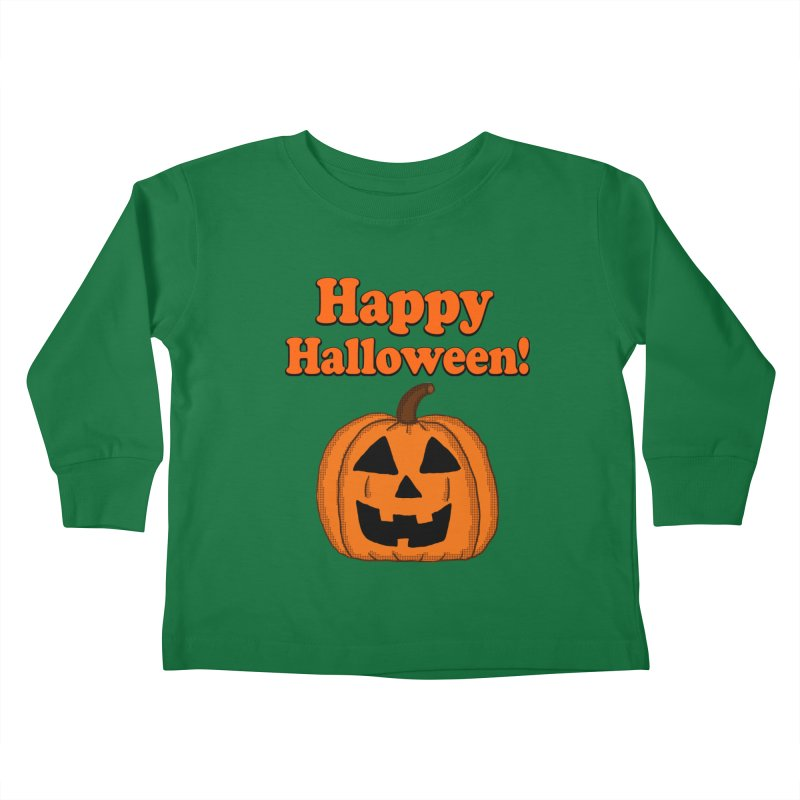 Happy Halloween Jackolantern Kids Toddler Longsleeve T-Shirt by ericallen's Artist Shop