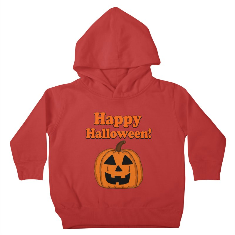 Happy Halloween Jackolantern Kids Toddler Pullover Hoody by ericallen's Artist Shop