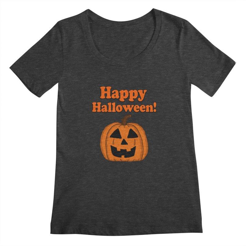 Happy Halloween Jackolantern Women's Scoopneck by ericallen's Artist Shop