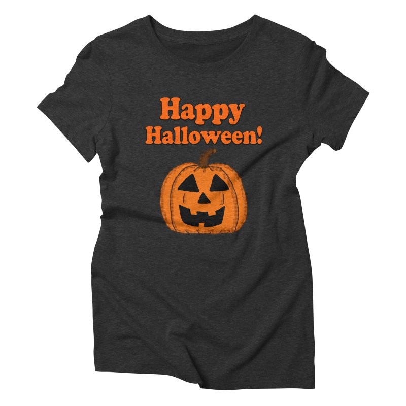 Happy Halloween Jackolantern Women's Triblend T-shirt by ericallen's Artist Shop