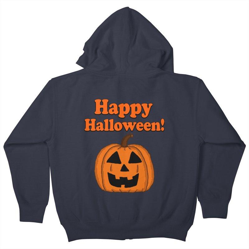 Happy Halloween Jackolantern Kids Zip-Up Hoody by ericallen's Artist Shop