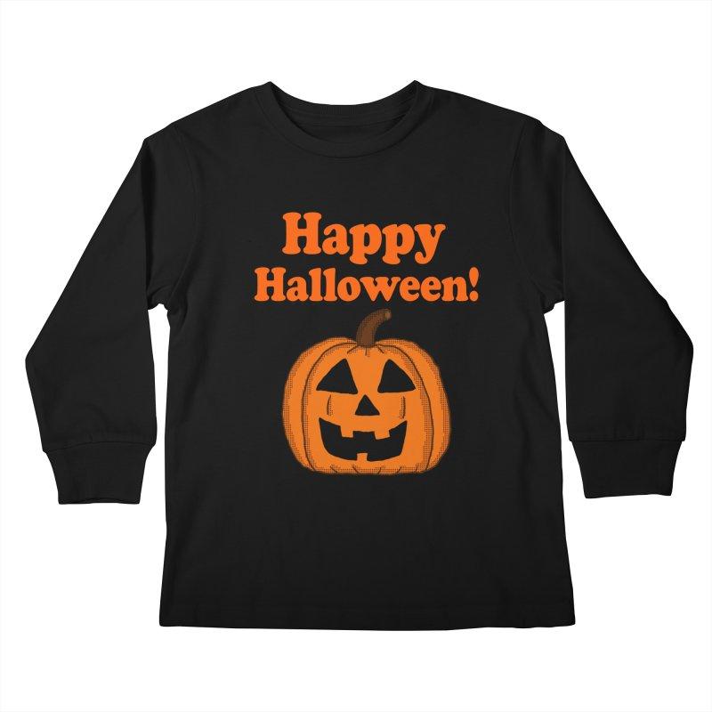 Happy Halloween Jackolantern Kids Longsleeve T-Shirt by ericallen's Artist Shop