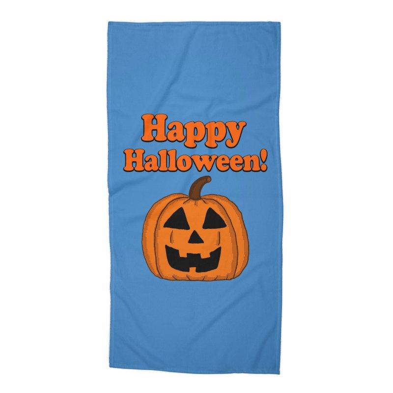 Happy Halloween Jackolantern Accessories Beach Towel by ericallen's Artist Shop