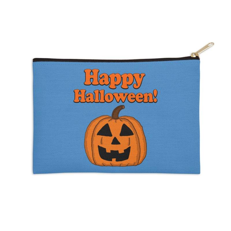Happy Halloween Jackolantern Accessories Zip Pouch by ericallen's Artist Shop
