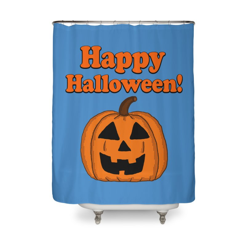 Happy Halloween Jackolantern Home Shower Curtain by ericallen's Artist Shop
