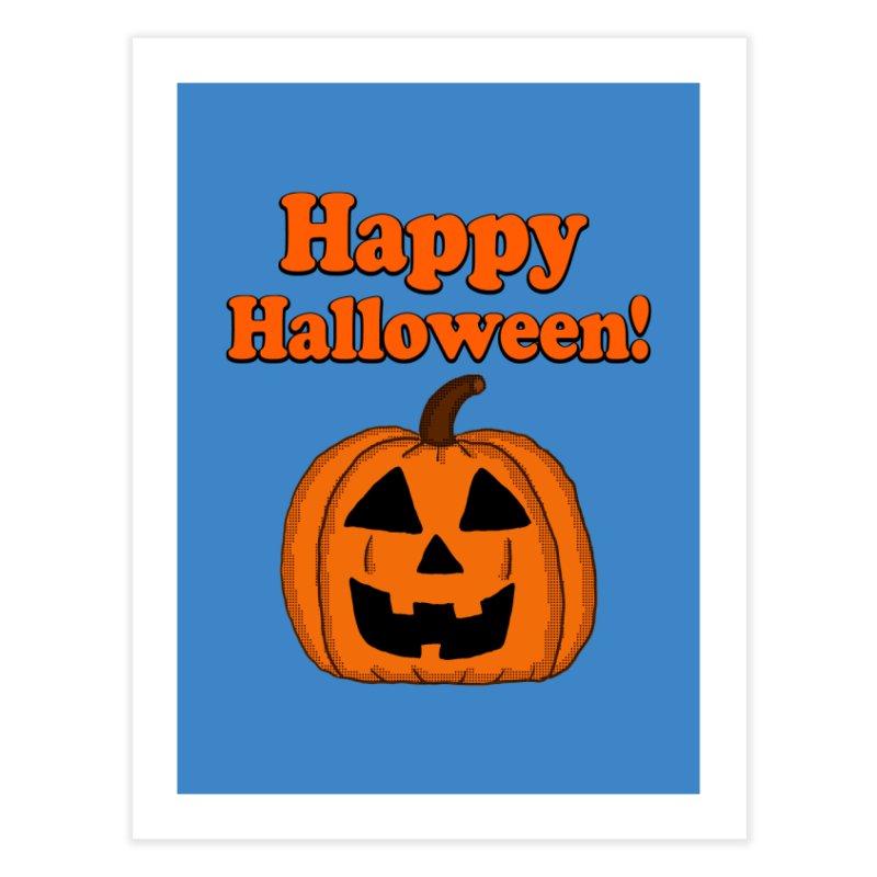 Happy Halloween Jackolantern Home Fine Art Print by ericallen's Artist Shop