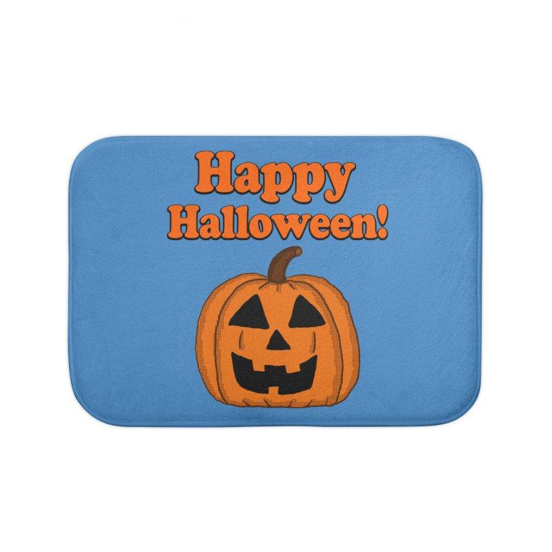Happy Halloween Jackolantern Home Bath Mat by ericallen's Artist Shop