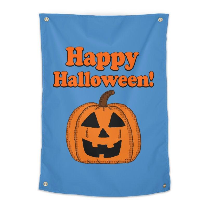 Happy Halloween Jackolantern Home Tapestry by ericallen's Artist Shop