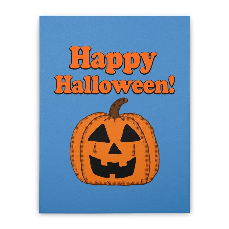 Happy Halloween Jackolantern Home Stretched Canvas by ericallen's Artist Shop