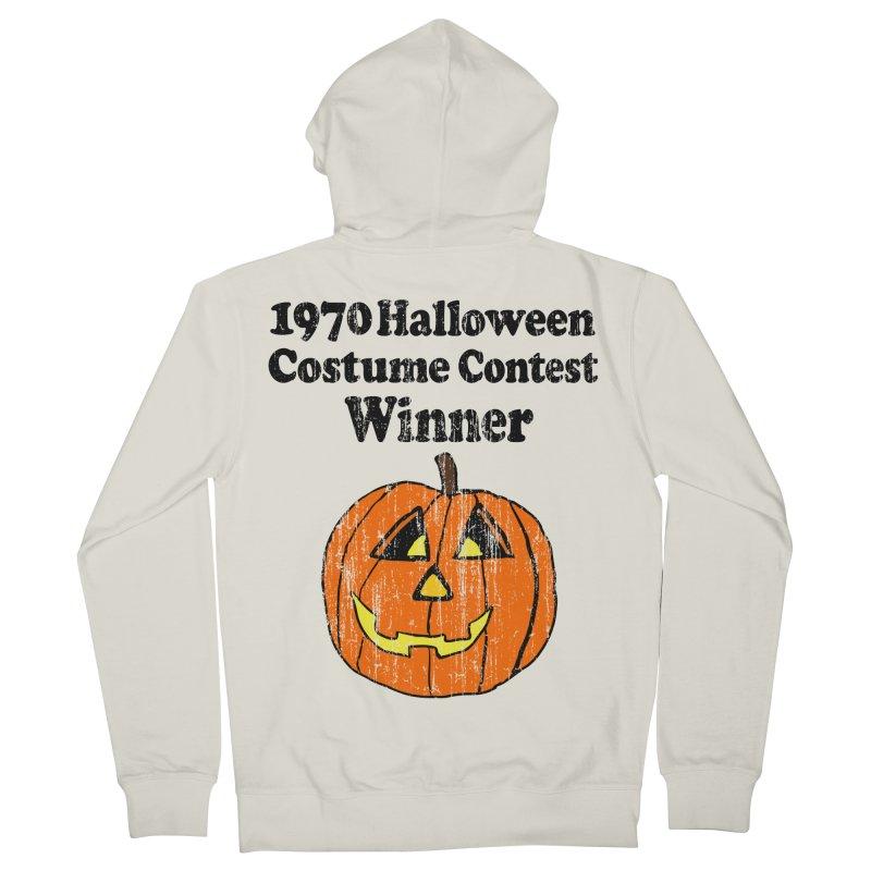 Vintage 1970 Halloween Costume Contest Winner Men's Zip-Up Hoody by ericallen's Artist Shop