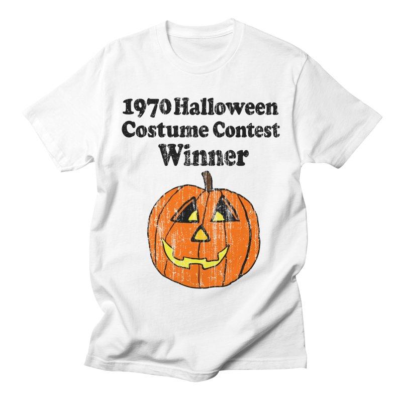 Vintage 1970 Halloween Costume Contest Winner in Men's T-shirt White by ericallen's Artist Shop