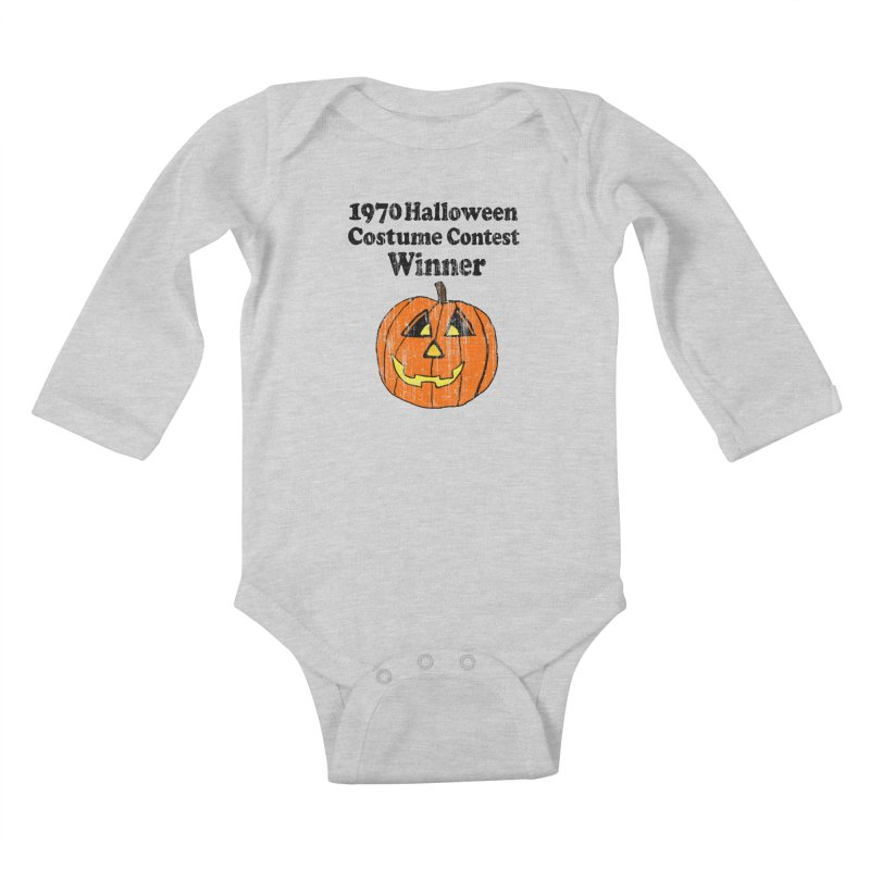 Vintage 1970 Halloween Costume Contest Winner Kids Baby Longsleeve Bodysuit by ericallen's Artist Shop
