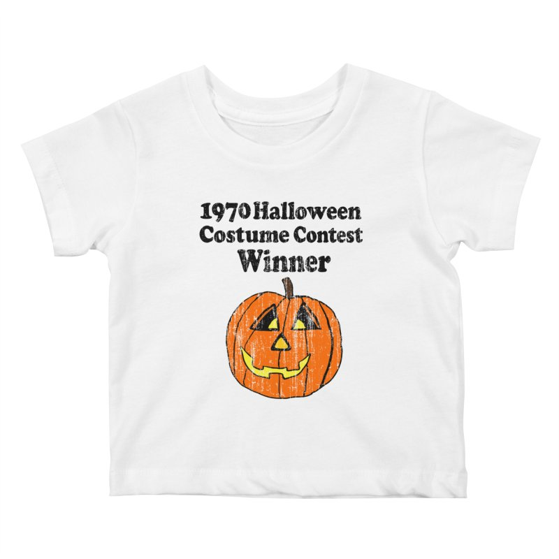 Vintage 1970 Halloween Costume Contest Winner Kids Baby T-Shirt by ericallen's Artist Shop