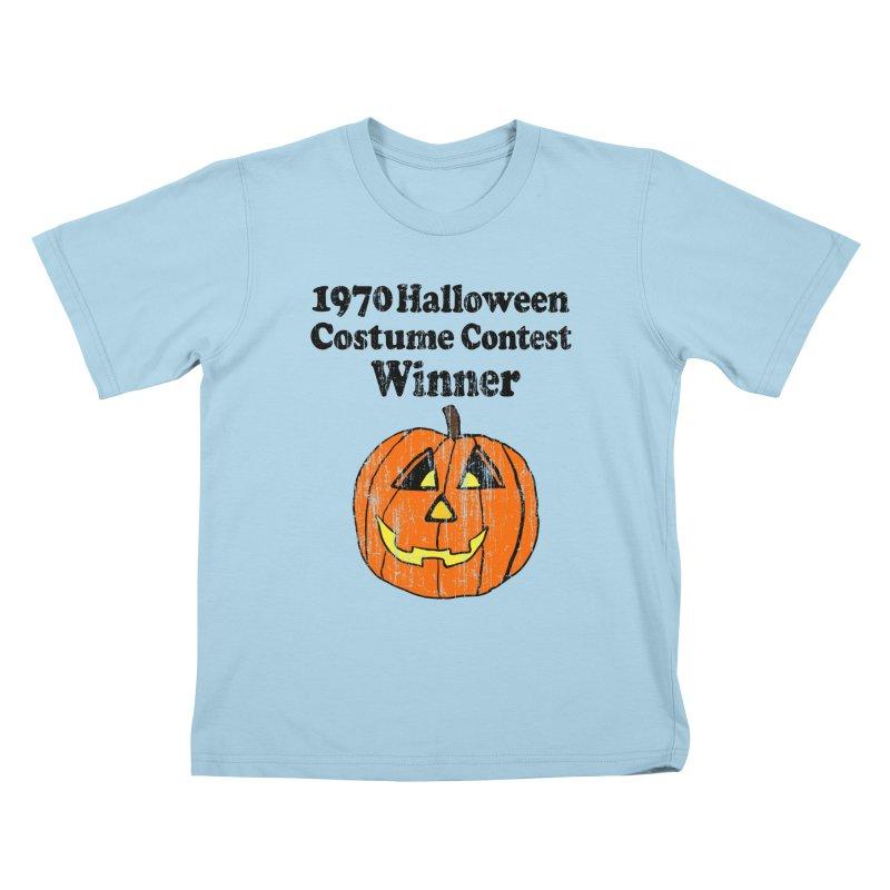 Vintage 1970 Halloween Costume Contest Winner Kids T-shirt by ericallen's Artist Shop
