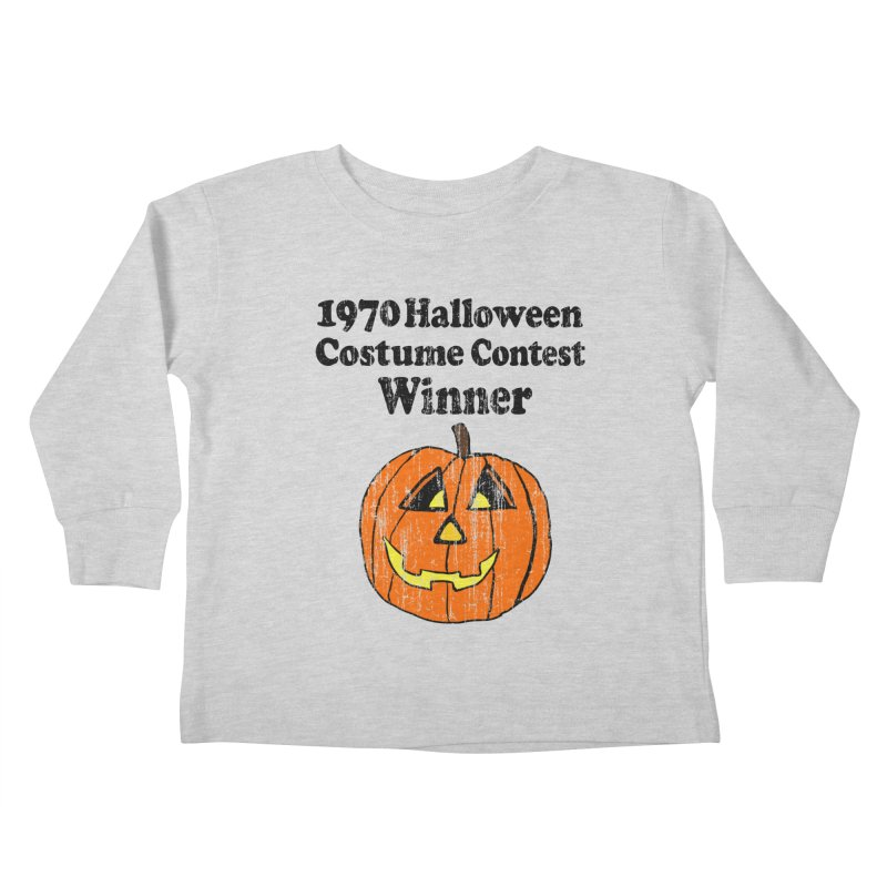 Vintage 1970 Halloween Costume Contest Winner Kids Toddler Longsleeve T-Shirt by ericallen's Artist Shop