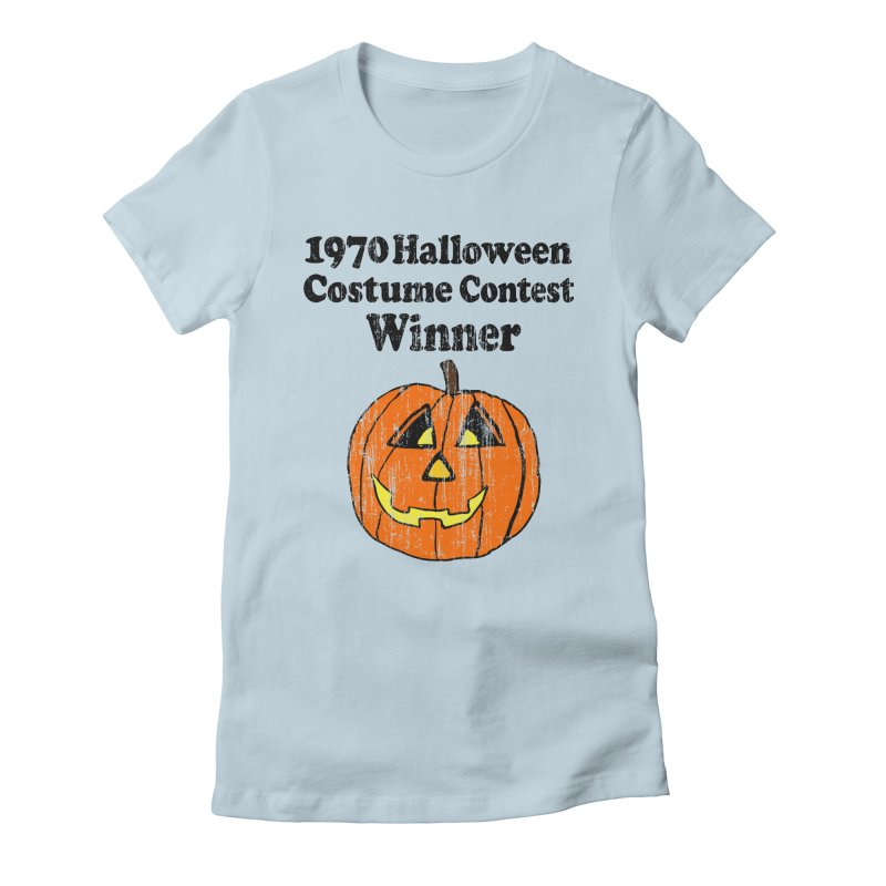Vintage 1970 Halloween Costume Contest Winner Women's Fitted T-Shirt by ericallen's Artist Shop