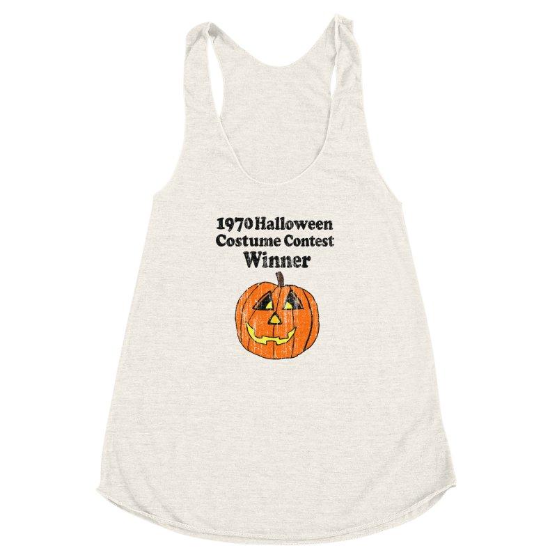 Vintage 1970 Halloween Costume Contest Winner Women's Racerback Triblend Tank by ericallen's Artist Shop