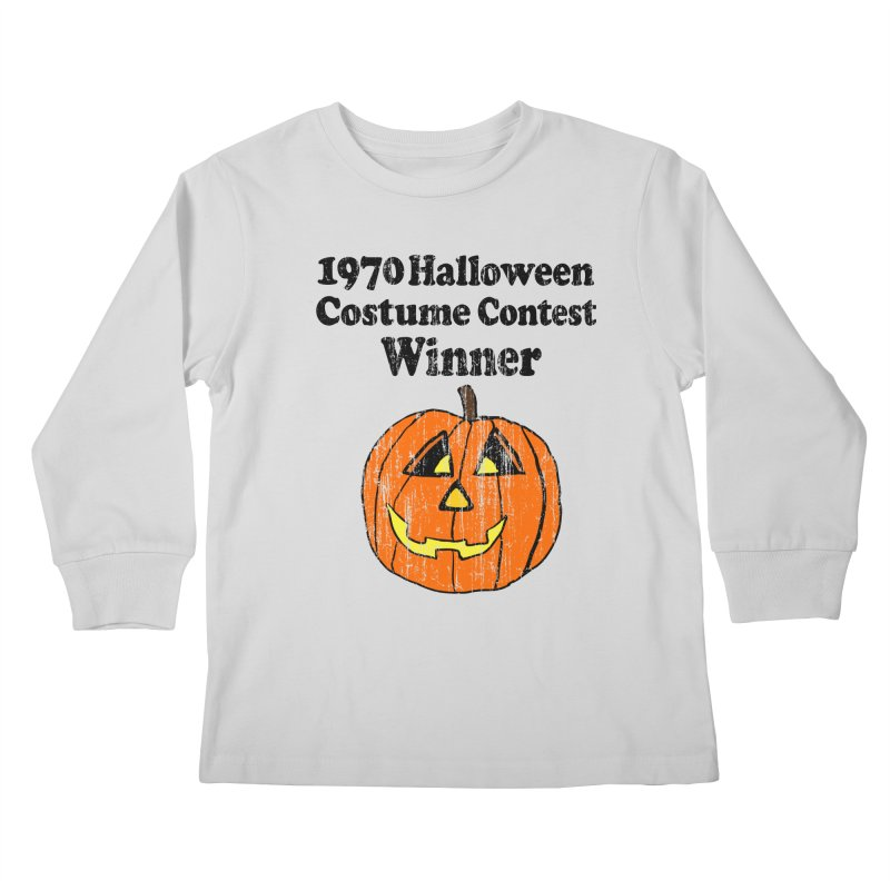 Vintage 1970 Halloween Costume Contest Winner Kids Longsleeve T-Shirt by ericallen's Artist Shop