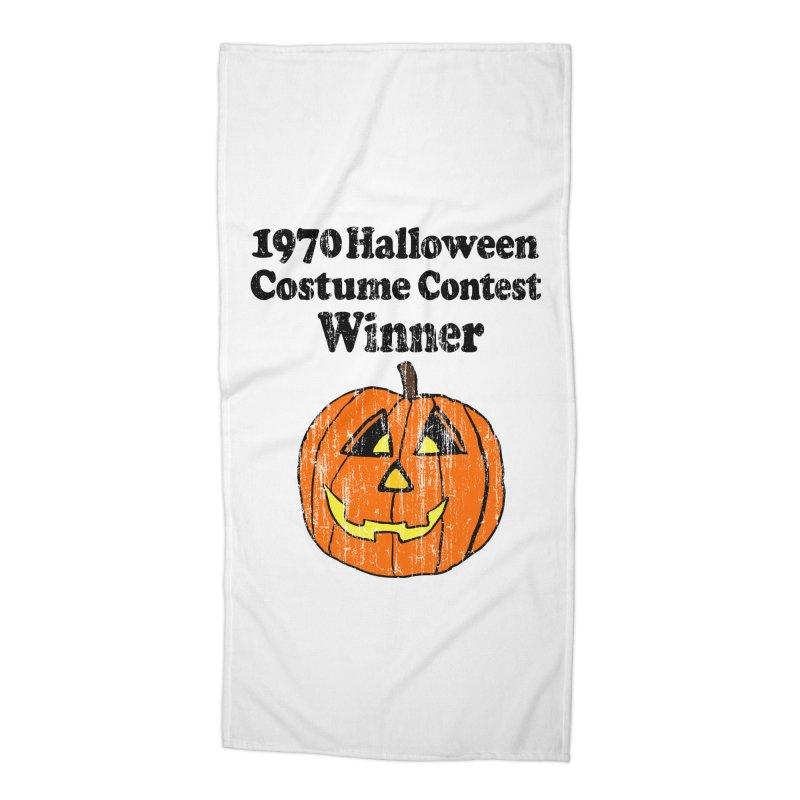 Vintage 1970 Halloween Costume Contest Winner Accessories Beach Towel by ericallen's Artist Shop