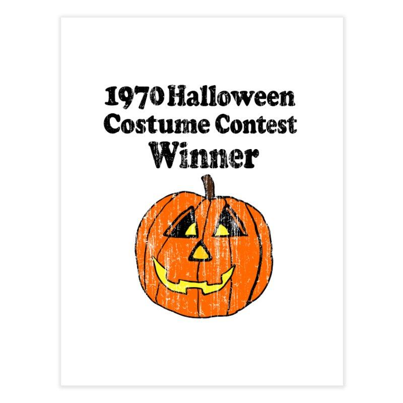 Vintage 1970 Halloween Costume Contest Winner Home Fine Art Print by ericallen's Artist Shop