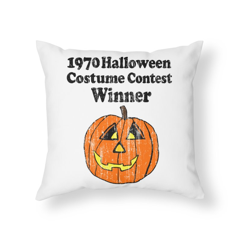 Vintage 1970 Halloween Costume Contest Winner Home Throw Pillow by ericallen's Artist Shop