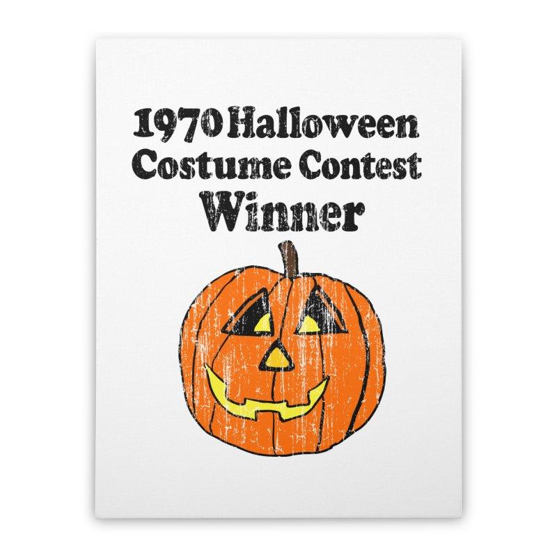 Vintage 1970 Halloween Costume Contest Winner Home Stretched Canvas by ericallen's Artist Shop