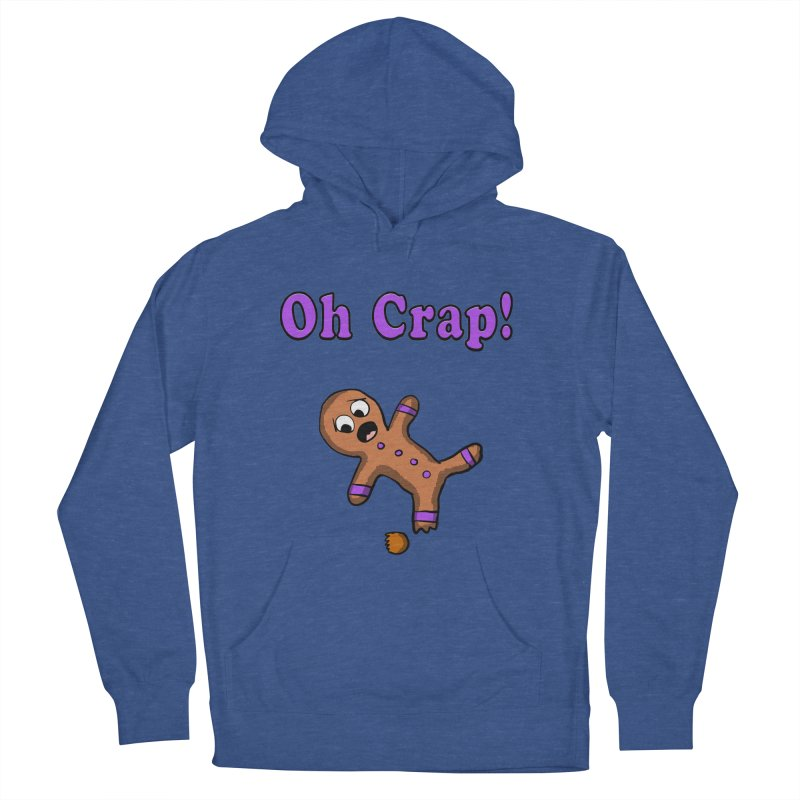 Oh Crap Gingerbread Man Men's Pullover Hoody by ericallen's Artist Shop