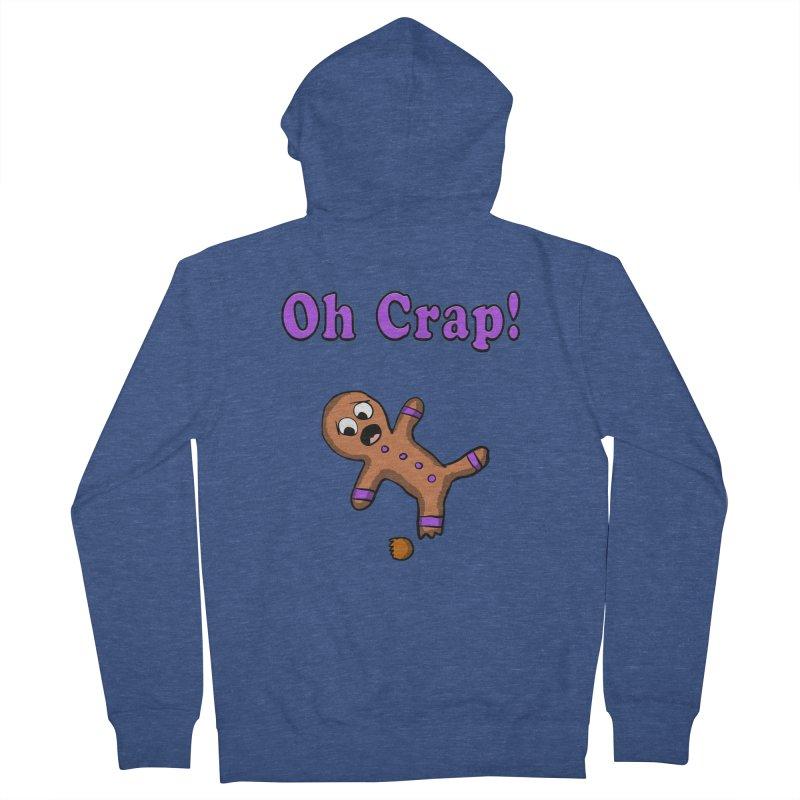 Oh Crap Gingerbread Man Men's Zip-Up Hoody by ericallen's Artist Shop