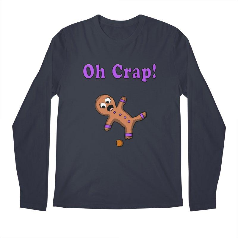 Oh Crap Gingerbread Man Men's Longsleeve T-Shirt by ericallen's Artist Shop
