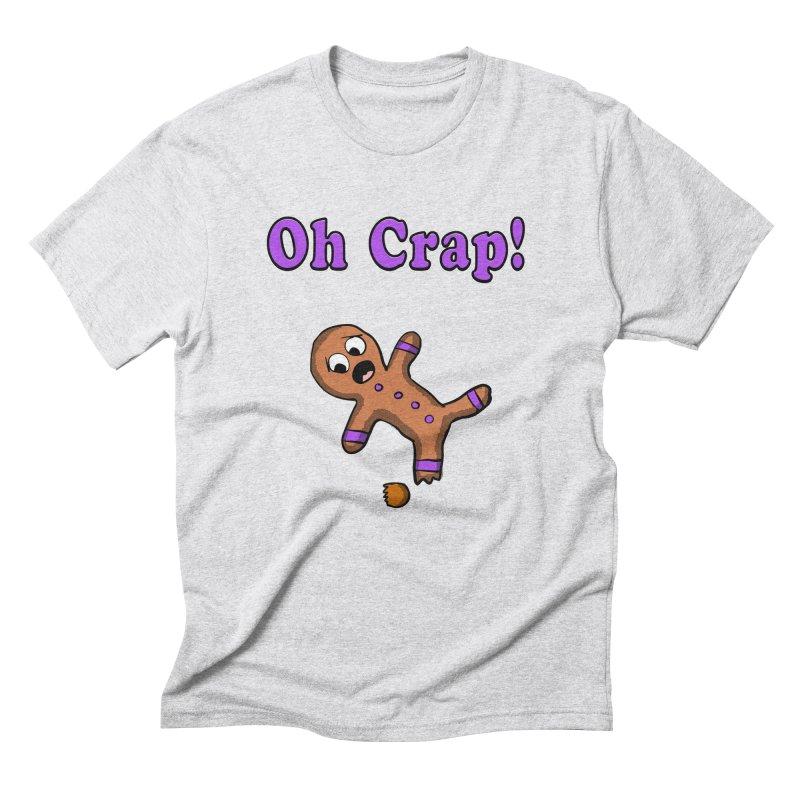 Oh Crap Gingerbread Man Men's Triblend T-shirt by ericallen's Artist Shop