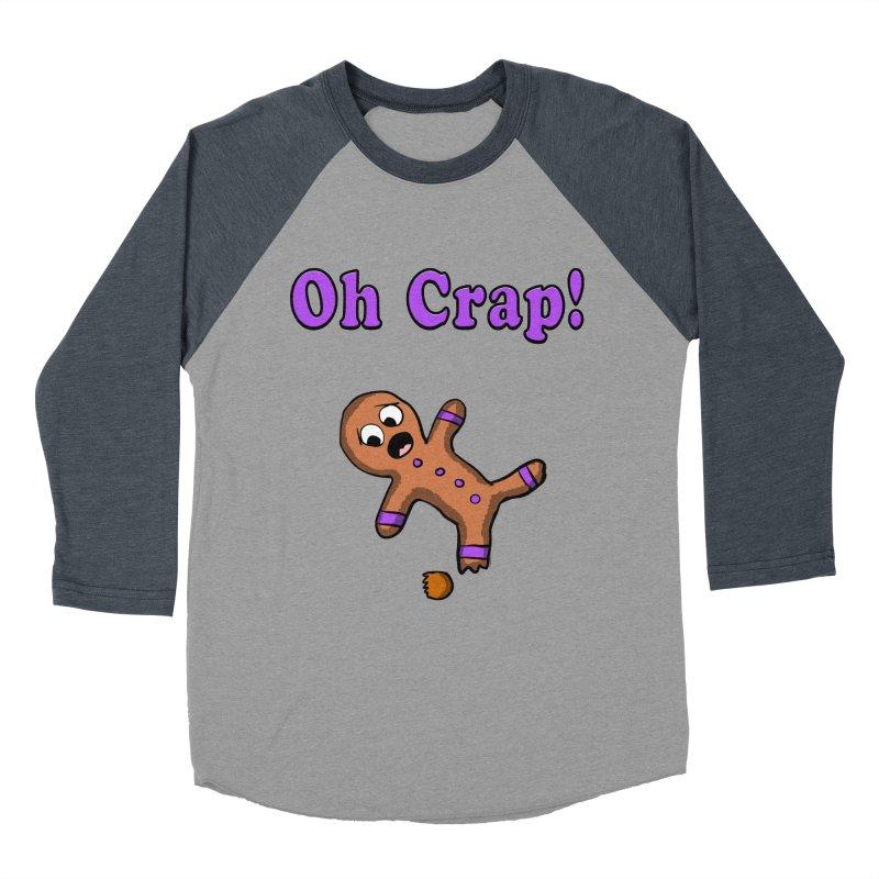 Oh Crap Gingerbread Man Men's Baseball Triblend T-Shirt by ericallen's Artist Shop