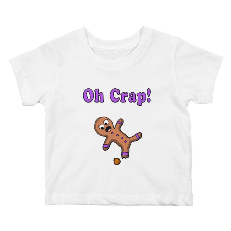 Oh Crap Gingerbread Man Kids Baby T-Shirt by ericallen's Artist Shop