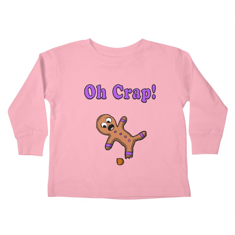 Oh Crap Gingerbread Man Kids Toddler Longsleeve T-Shirt by ericallen's Artist Shop