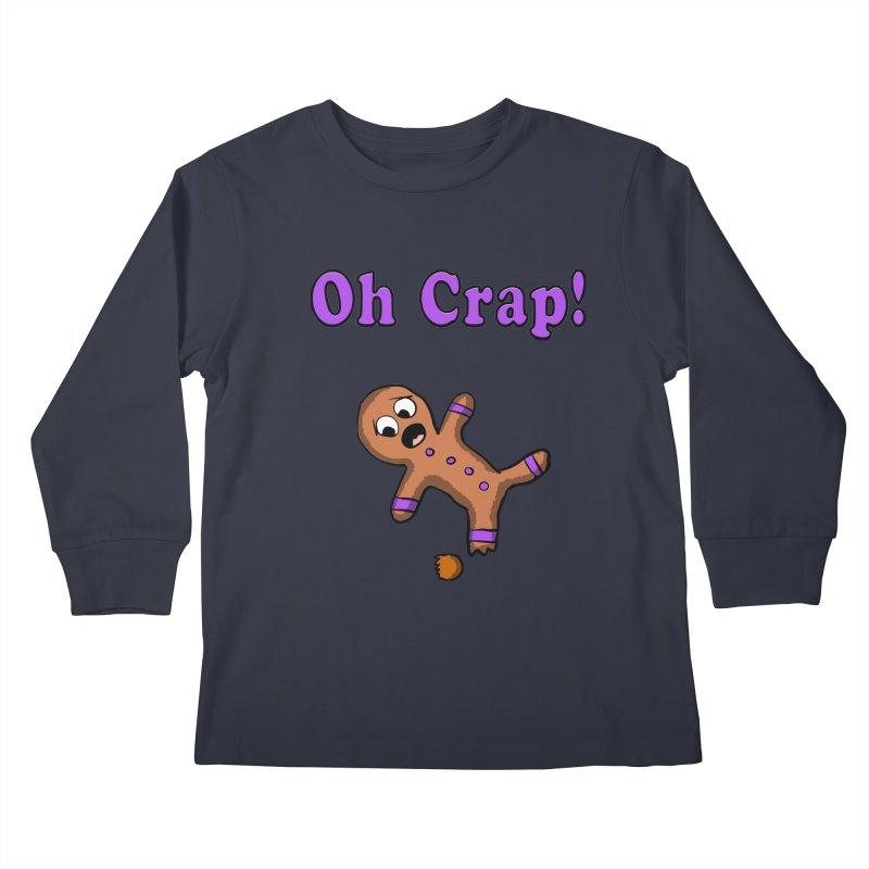 Oh Crap Gingerbread Man Kids Longsleeve T-Shirt by ericallen's Artist Shop