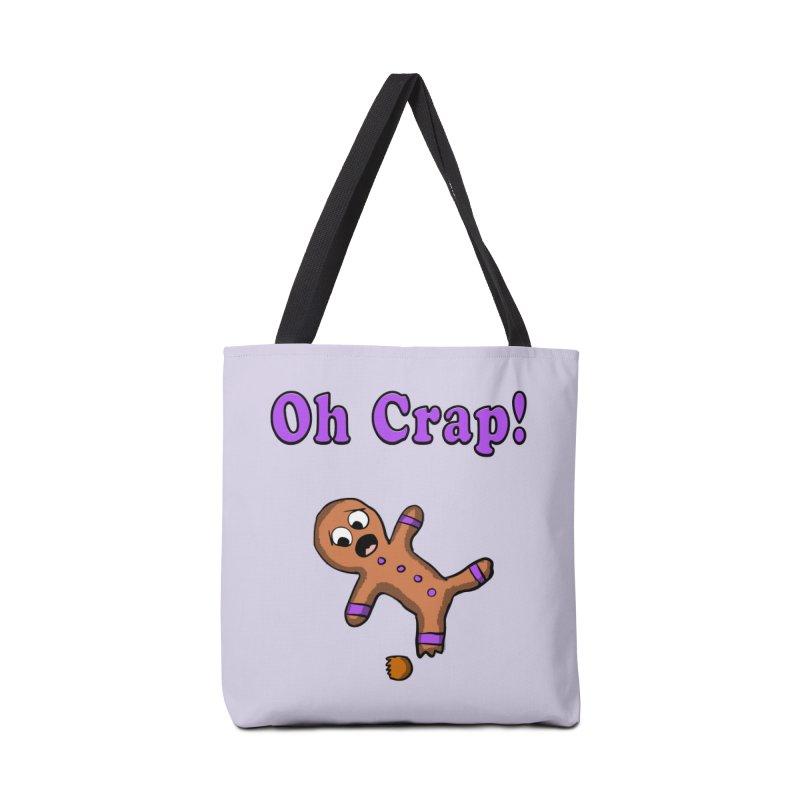 Oh Crap Gingerbread Man Accessories Bag by ericallen's Artist Shop