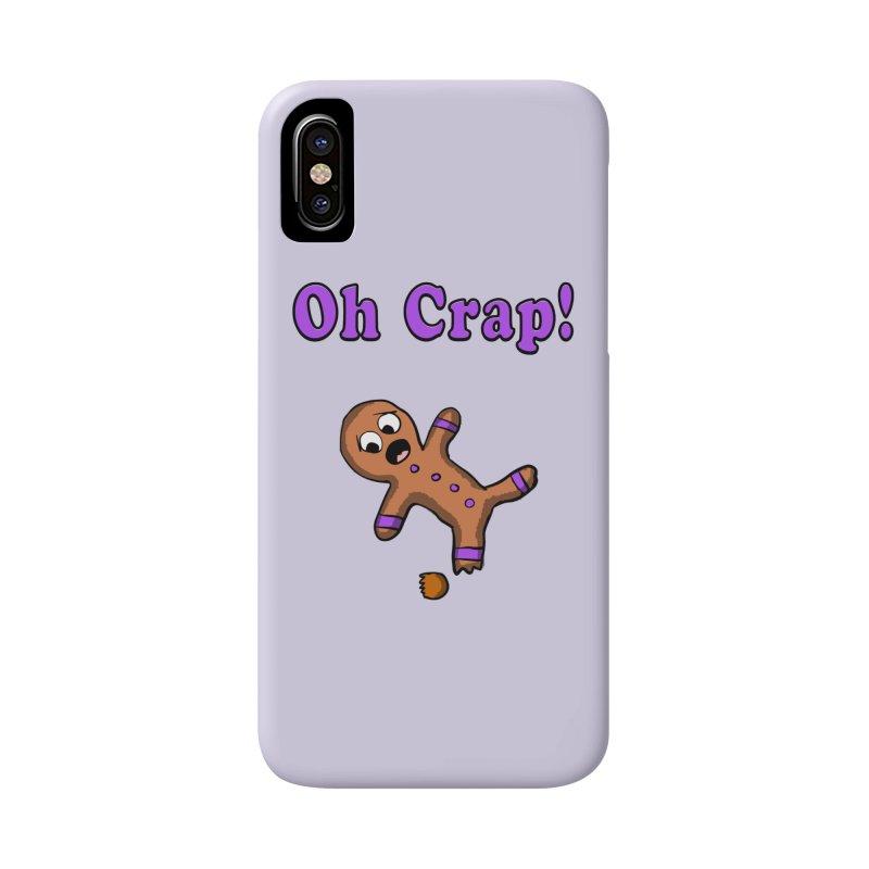 Oh Crap Gingerbread Man Accessories Phone Case by ericallen's Artist Shop