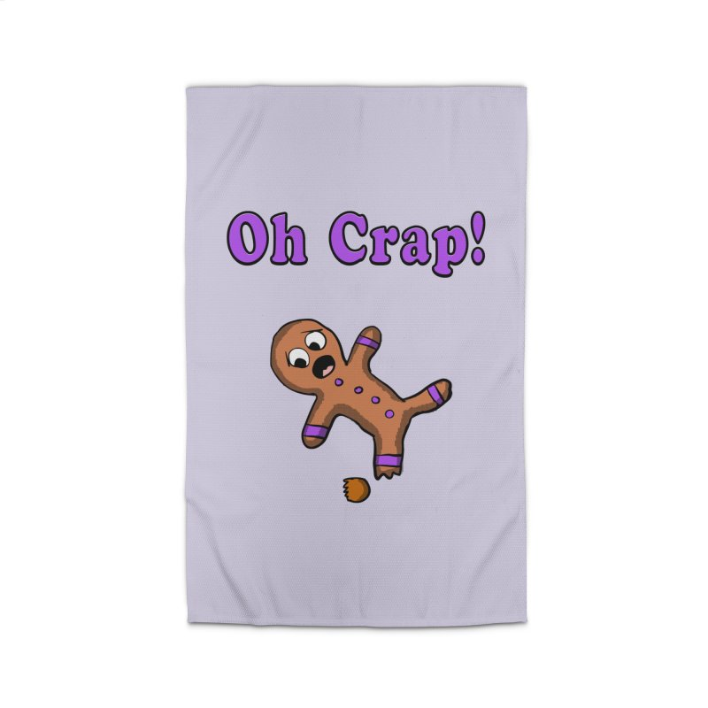 Oh Crap Gingerbread Man Home Rug by ericallen's Artist Shop