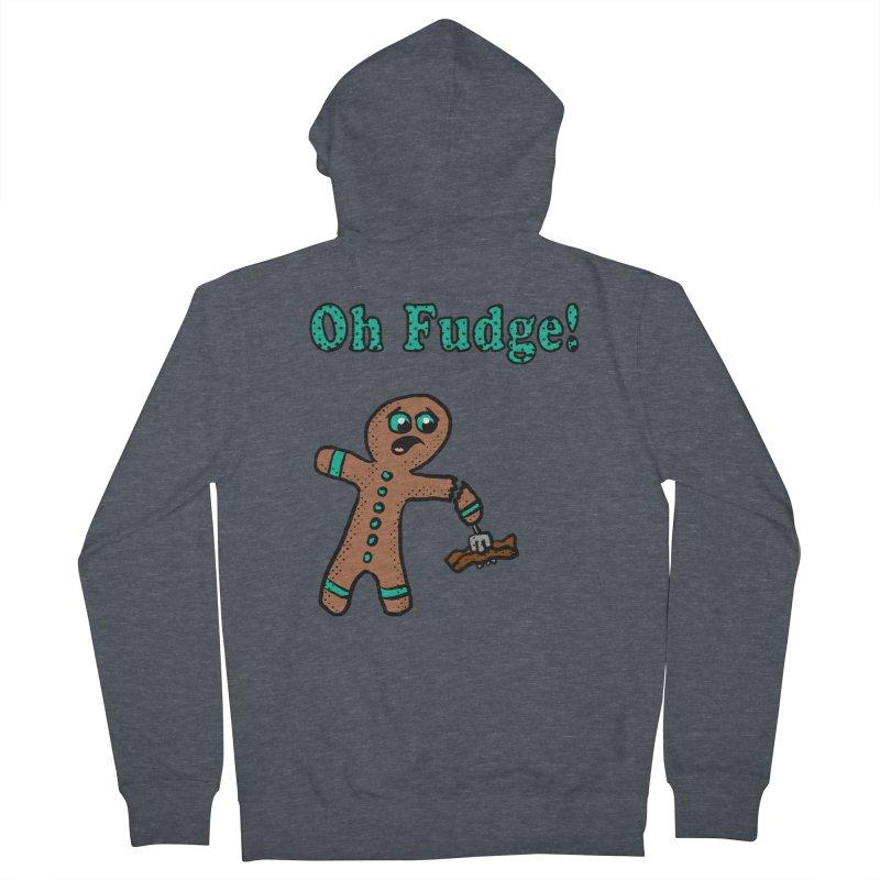 Oh Fudge Gingerbread Man Men's Zip-Up Hoody by ericallen's Artist Shop