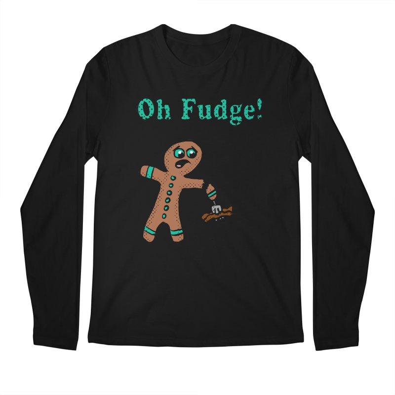 Oh Fudge Gingerbread Man Men's Longsleeve T-Shirt by ericallen's Artist Shop