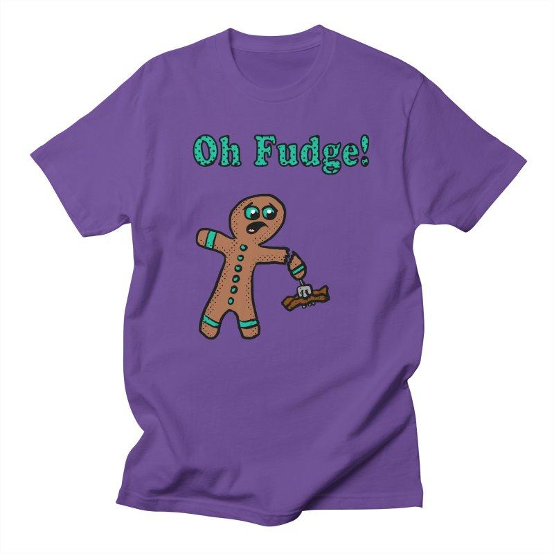 Oh Fudge Gingerbread Man in Women's Unisex T-Shirt Purple by ericallen's Artist Shop