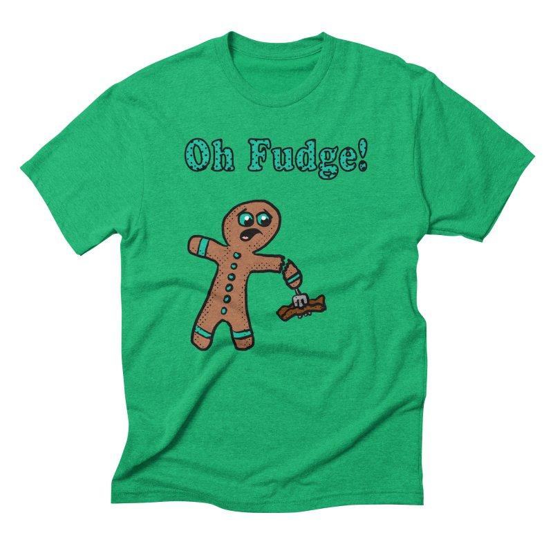 Oh Fudge Gingerbread Man Men's Triblend T-shirt by ericallen's Artist Shop