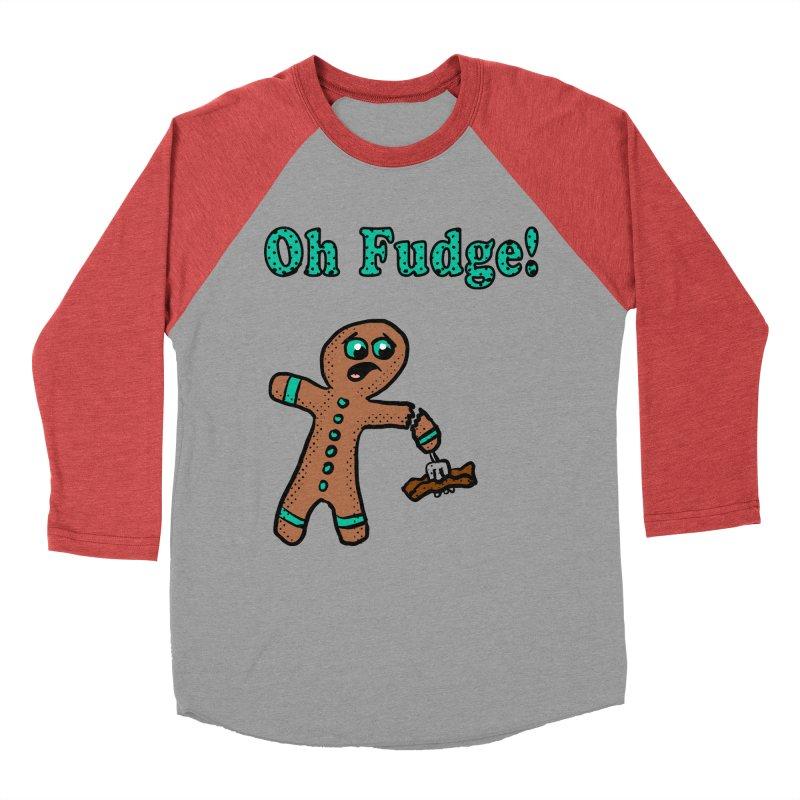 Oh Fudge Gingerbread Man Men's Baseball Triblend T-Shirt by ericallen's Artist Shop