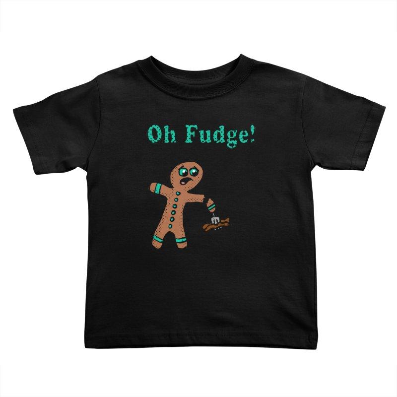 Oh Fudge Gingerbread Man Kids Toddler T-Shirt by ericallen's Artist Shop
