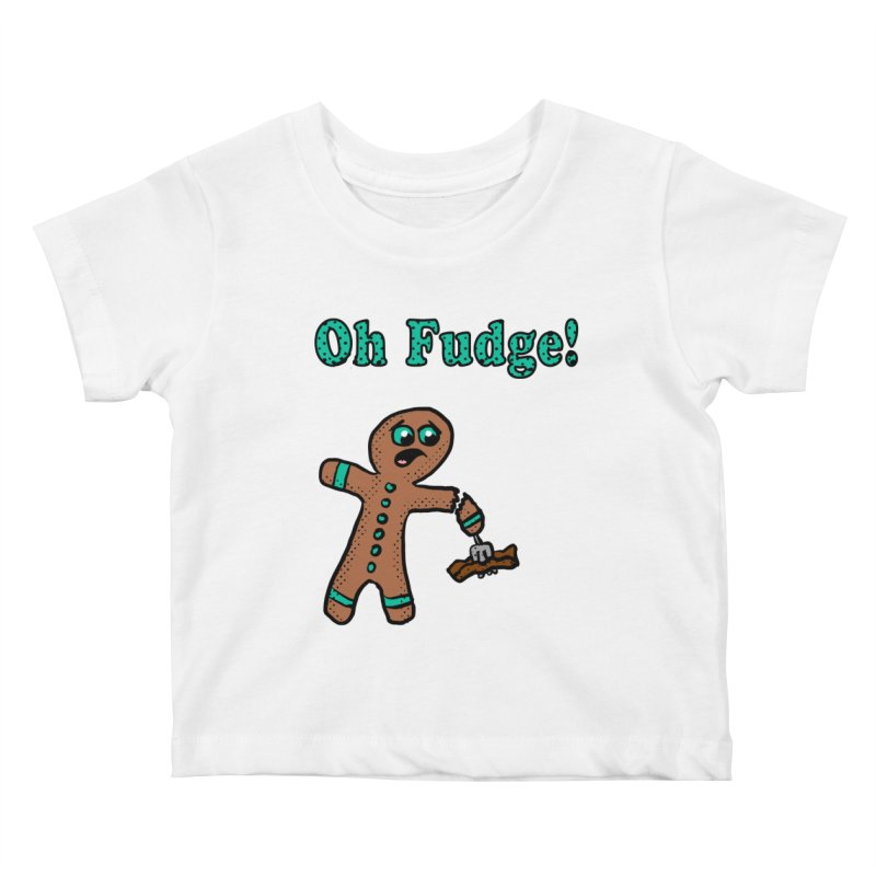 Oh Fudge Gingerbread Man Kids Baby T-Shirt by ericallen's Artist Shop