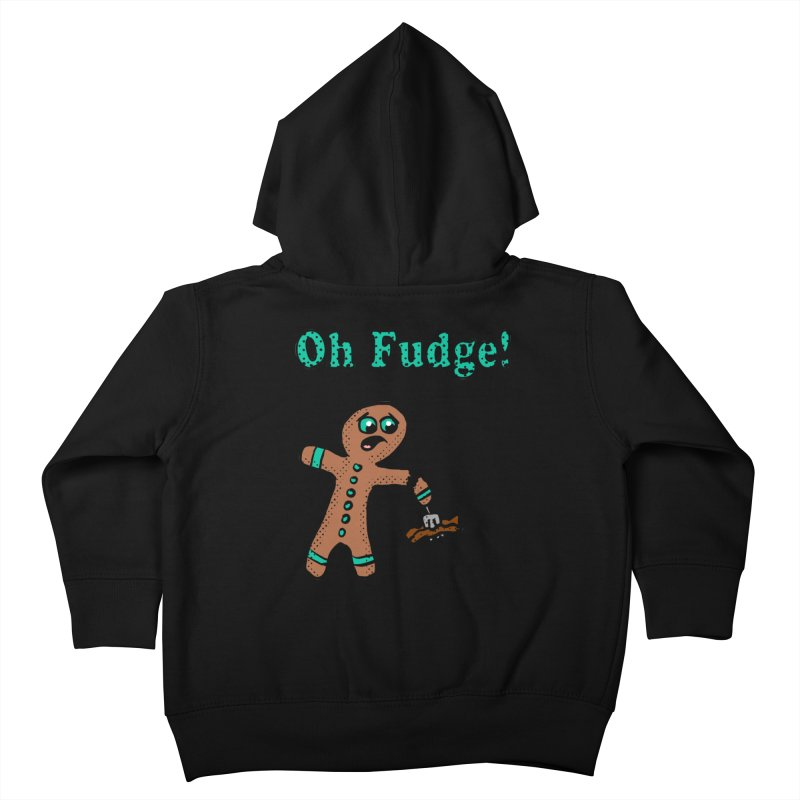 Oh Fudge Gingerbread Man Kids Toddler Zip-Up Hoody by ericallen's Artist Shop