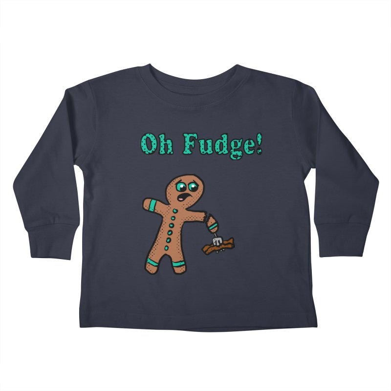 Oh Fudge Gingerbread Man Kids Toddler Longsleeve T-Shirt by ericallen's Artist Shop