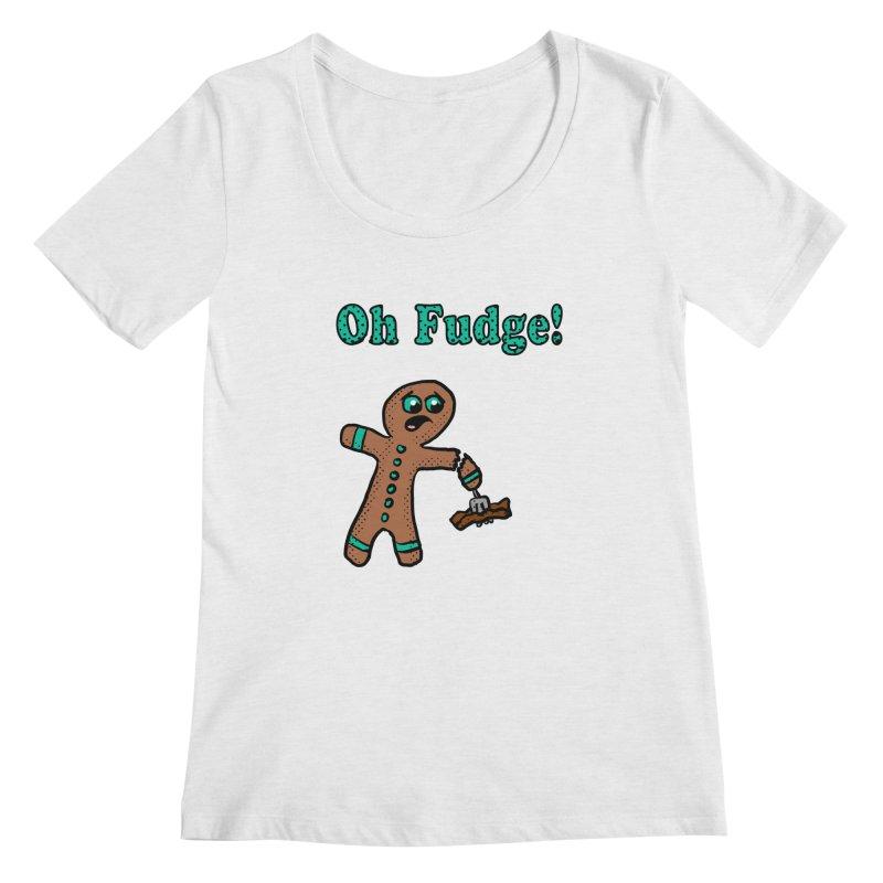 Oh Fudge Gingerbread Man Women's Scoopneck by ericallen's Artist Shop