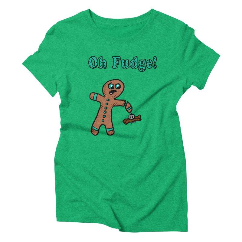 Oh Fudge Gingerbread Man Women's Triblend T-shirt by ericallen's Artist Shop