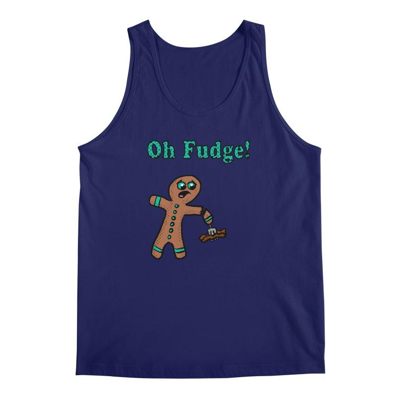 Oh Fudge Gingerbread Man Men's Tank by ericallen's Artist Shop